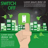 stock photo of sustainable development  - Switch Off - JPG