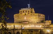 stock photo of mausoleum  - The Mausoleum of Hadrian usually known as Castel Sant - JPG