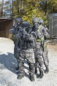 pic of anti-terrorism  - special anti-terrorist squad, coached at the shooting range