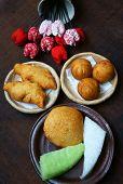 picture of sponge-cake  - Group of Vietnam street food - JPG