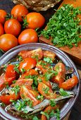 picture of raw materials  - Vietnamese food braised fish with tomato a popular dish in Vietnam meal cheap tasty nutrition and fresh raw material fish stew with fish sauce sugar season with tomato spice - JPG