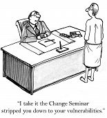 foto of change management  - The change management seminar had a big impact on the businessman - JPG