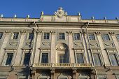 image of palace  - The facade of the Marble Palace at the Palace Embankment in St - JPG