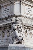 stock photo of dom  - Statue of Dom Pedro IV at Rossio Square Lisbon Portugal - JPG