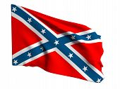 pic of confederation  - 3d rendering of an old confederate flag - JPG
