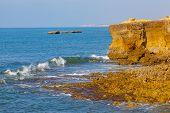picture of atlantic ocean  - Rocky coast of the Atlantic Ocean in Portugal - JPG