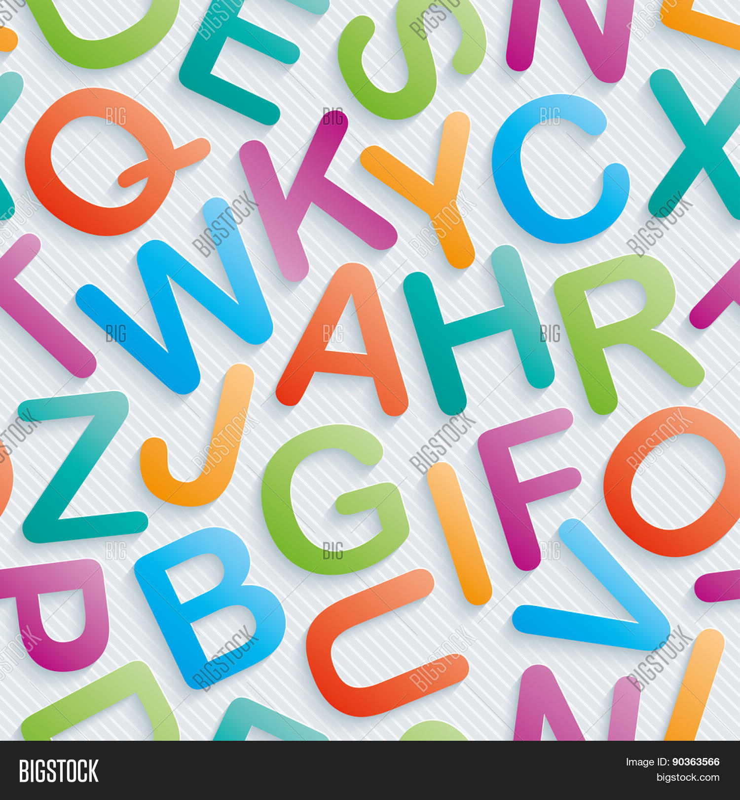 Colorful alphabet wallpaper. Seamless background with 3D ... Aands Alphabet Wallpapers Download