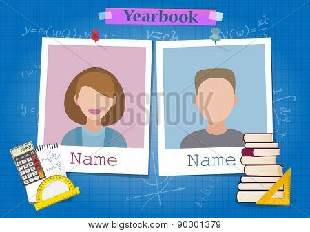 School yearbook and mathematics theme