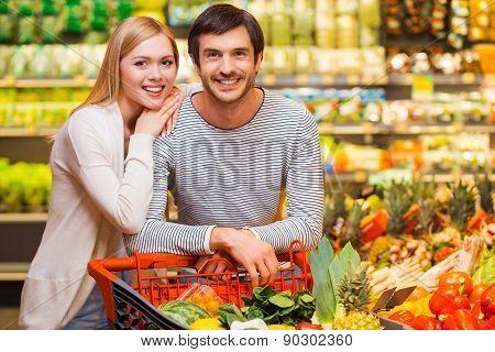 Shopping Together For Dinner