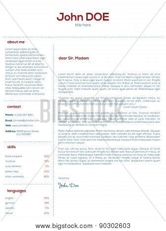 Simple Cover Letter Design For Resumes