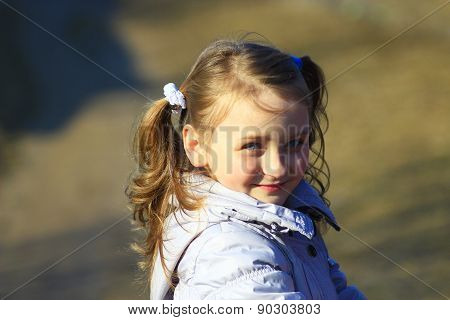 Portrait Of Young Girl With Nice Braids