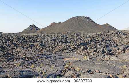 Volcanic Landscape On A Clear Morning