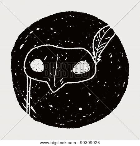 Masquerade Mask Doodle