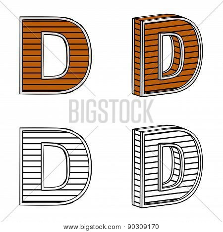 Letter D (a Block Of Wood)