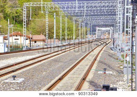 Caucasus. Sochi. Railway Track