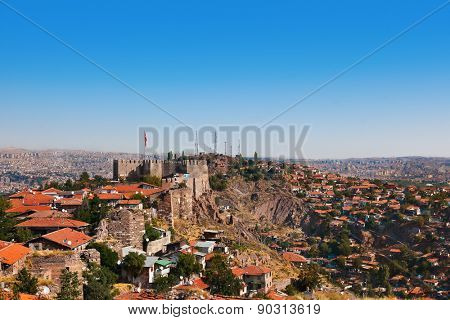 Old fort in Ankara Turkey - architecture travel background