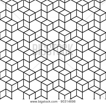 Seamless Geometric Box Pattern. Vector