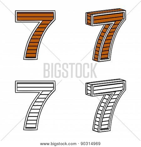 Number Seven (a Block Of Wood)