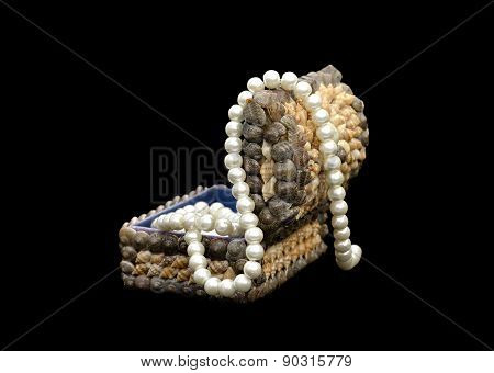 Beads From Pearls In A Casket