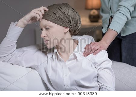 Elegant Woman Having Breast Cancer