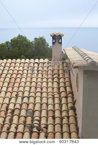 Traditional Mallorquin roof