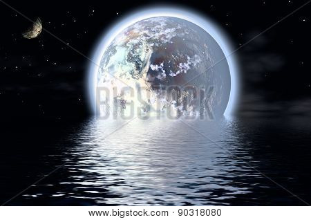 Planets Over Water