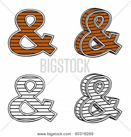 Ampersand (a Block Of Wood)