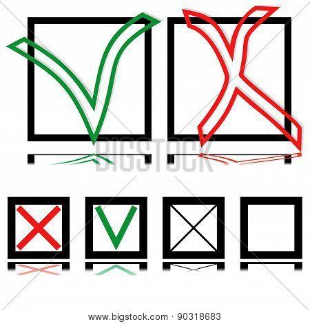 Choice (tick And Cross)