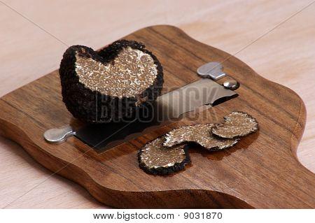 Organic Summer Truffle On A Truffle Slicer