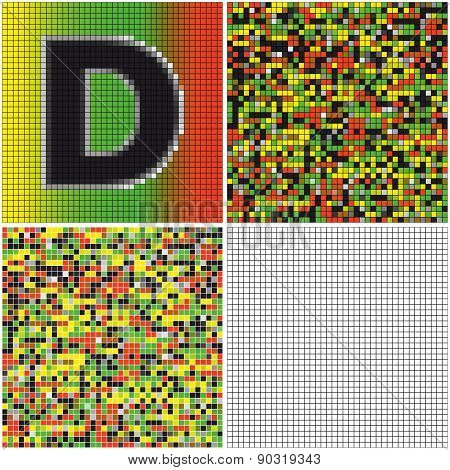 Letter D (mixed Mosaic)