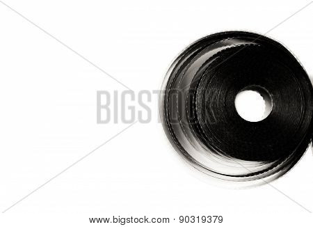 35 Mm Movie Film Reel  Isolated