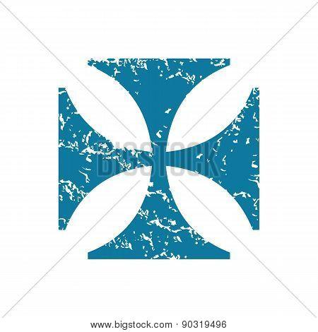 Grunge maltese cross icon