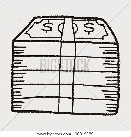 Money Bill Doodle Drawing