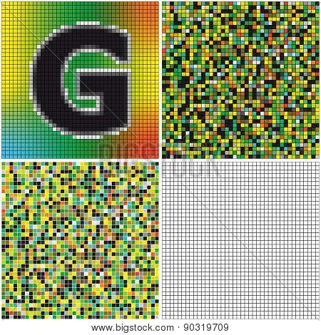 Letter G (mixed Mosaic)
