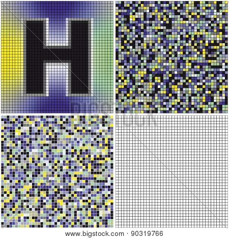 Letter H (mixed Mosaic)