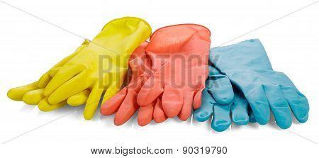 Rubber gloves.