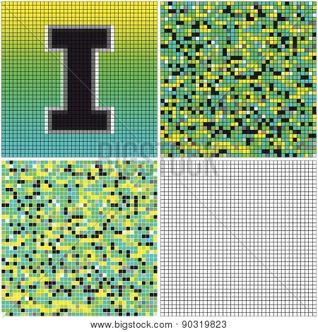 Letter I (mixed Mosaic)