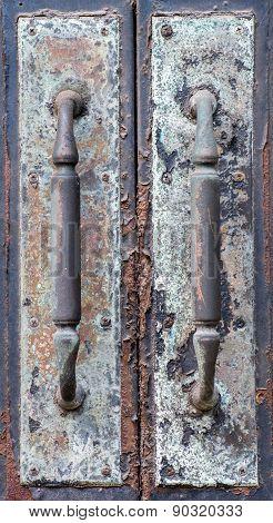 Old Metal Door Handles