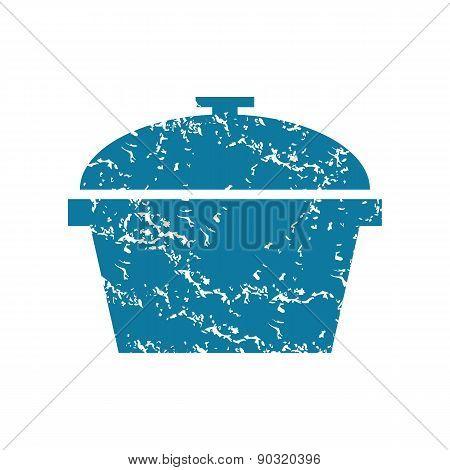 Grunge pot icon