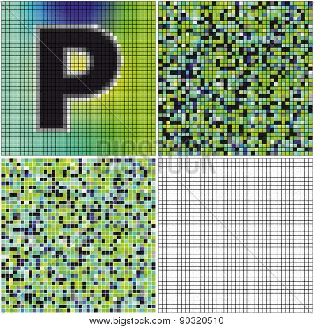 Letter P (mixed Mosaic)