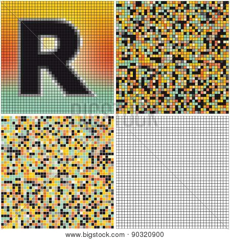 Letter R (mixed Mosaic)