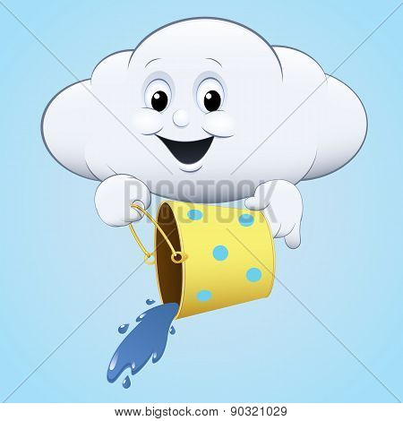 cloud icon with a bucket