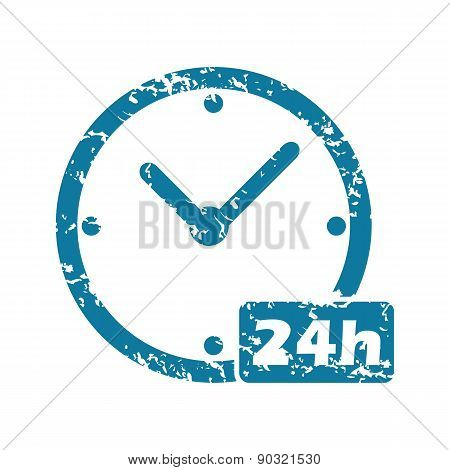 Grunge 24h workhours icon