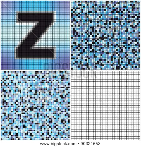 Letter Z (mixed Mosaic)