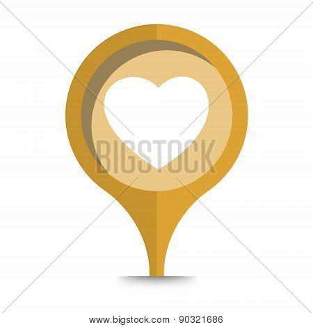 Heart Icon Pin