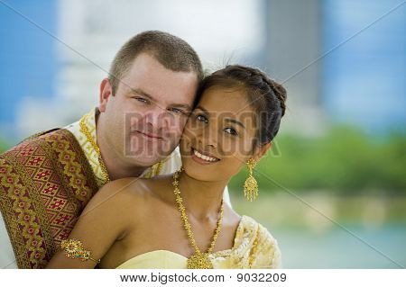 Caucasian And Asian Couple