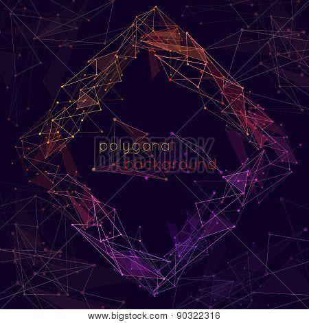 Wireframe polygonal background