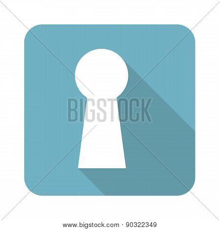Square keyhole icon