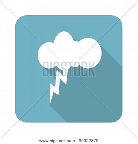 Square thunderstorm icon