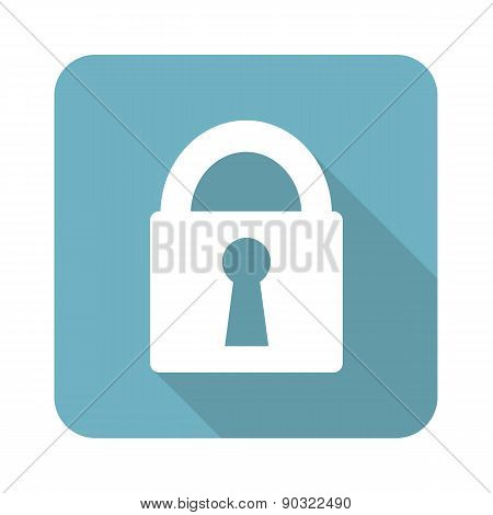 Square closed padlock icon